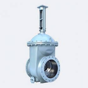 Cast steel wedge gate valves with rubberized wedge