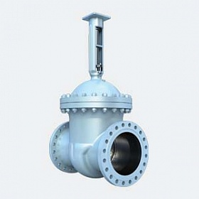 Cast steel wedge gate valves with rising stem
