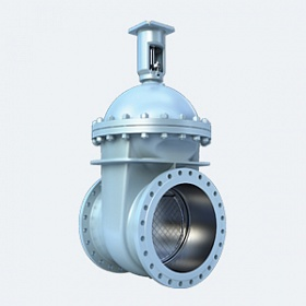 Cast steel wedge gate valves with non-rising stem
